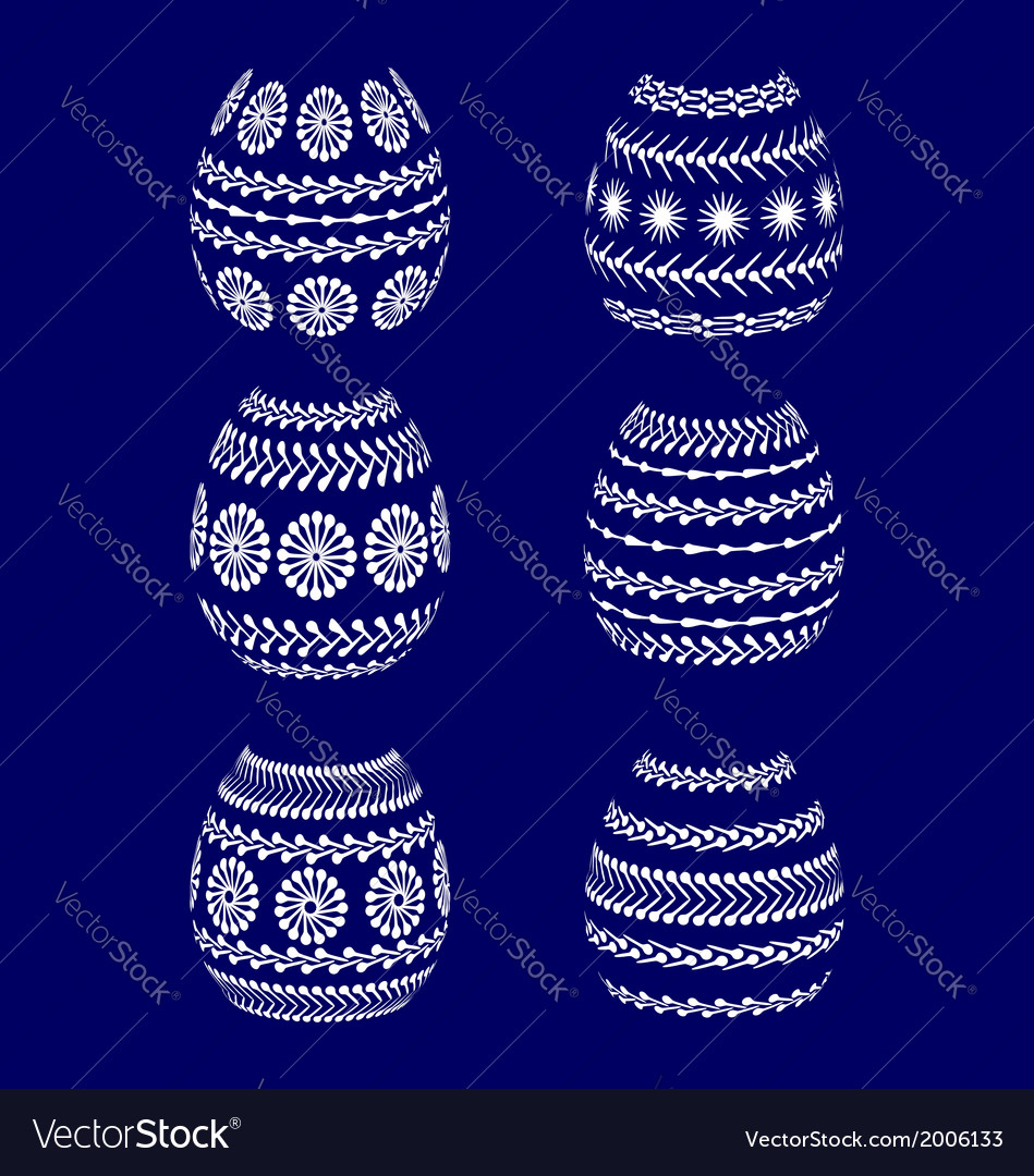 Silhouettes of painted easter eggs vector | Price: 1 Credit (USD $1)