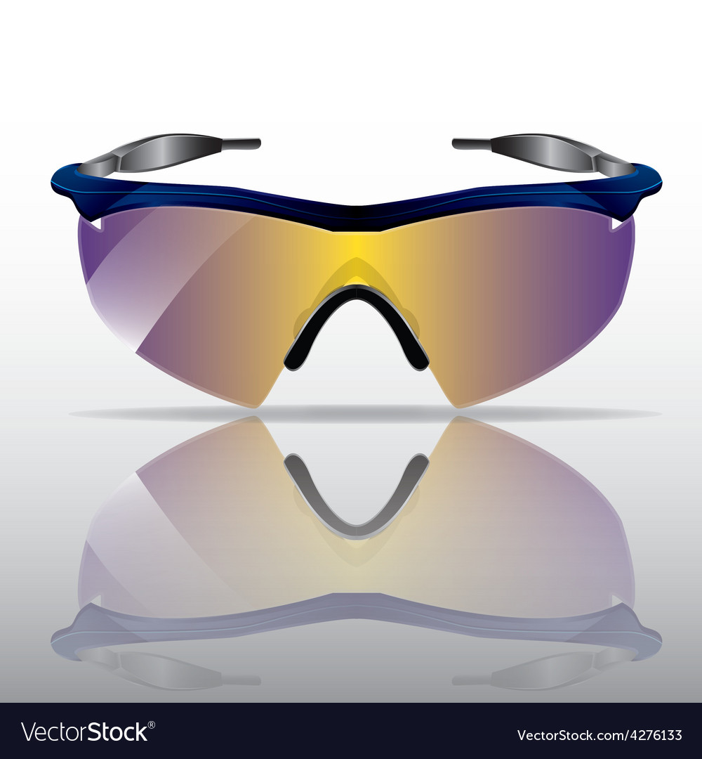 Sporty sunglasses with reflection vector | Price: 1 Credit (USD $1)