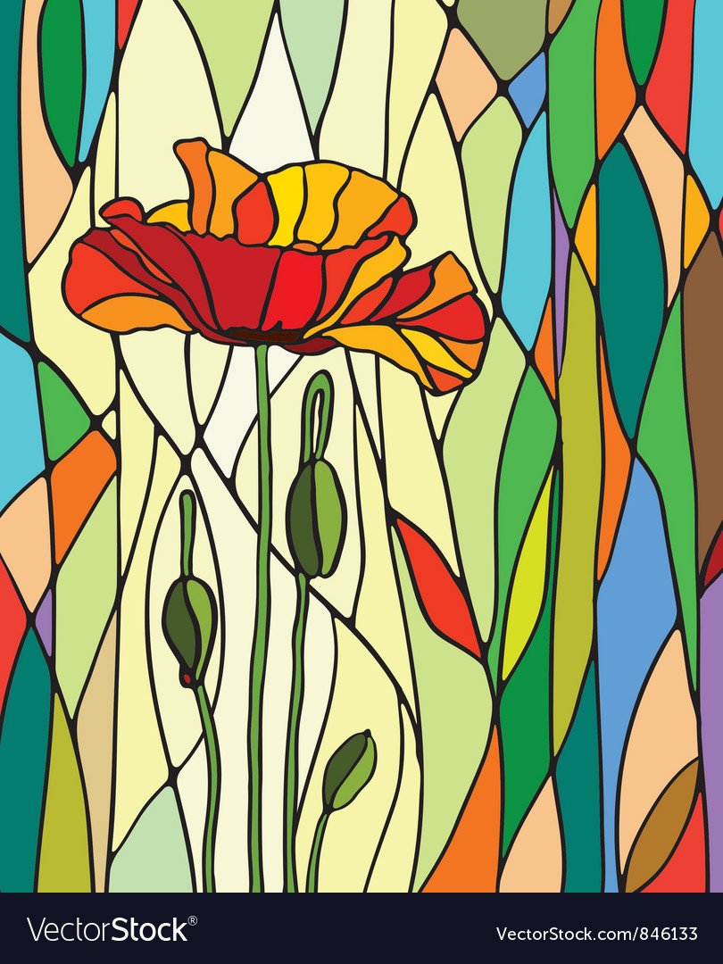 Stained glass window vector | Price: 1 Credit (USD $1)