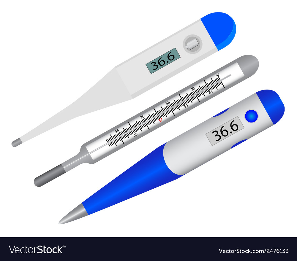Three thermometers vector | Price: 1 Credit (USD $1)