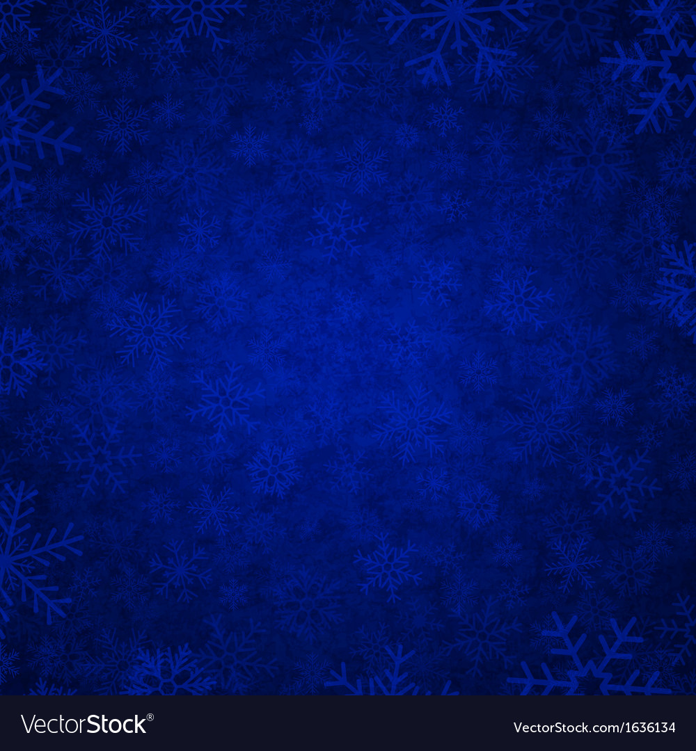 Blue snow vector | Price: 1 Credit (USD $1)