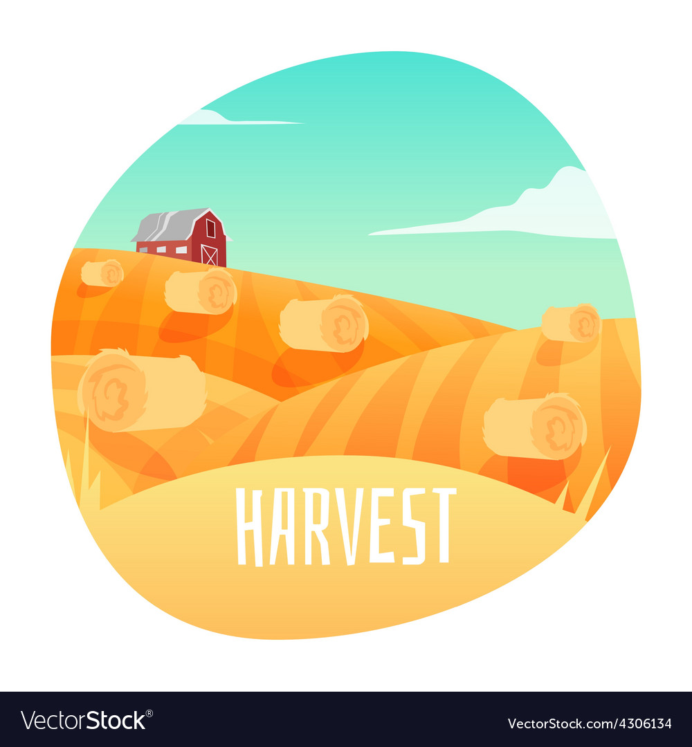 Farm landscape vector   Price: 3 Credit (USD $3)