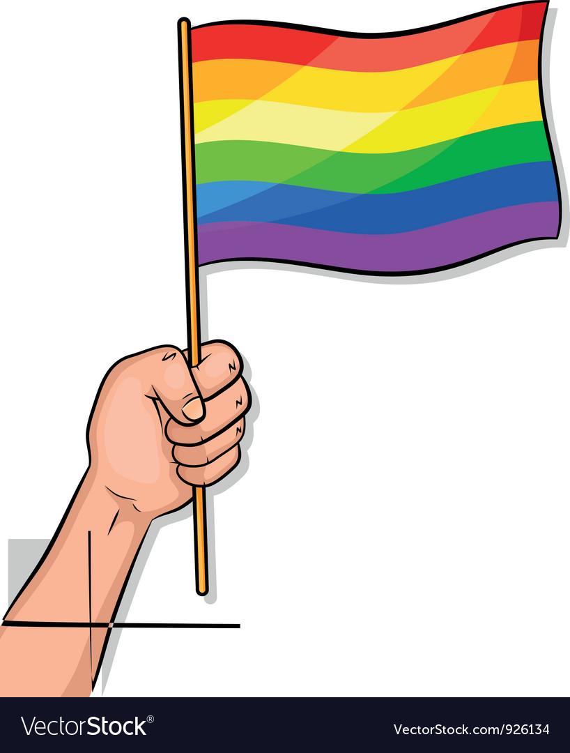 Gay pride flag vector | Price: 3 Credit (USD $3)
