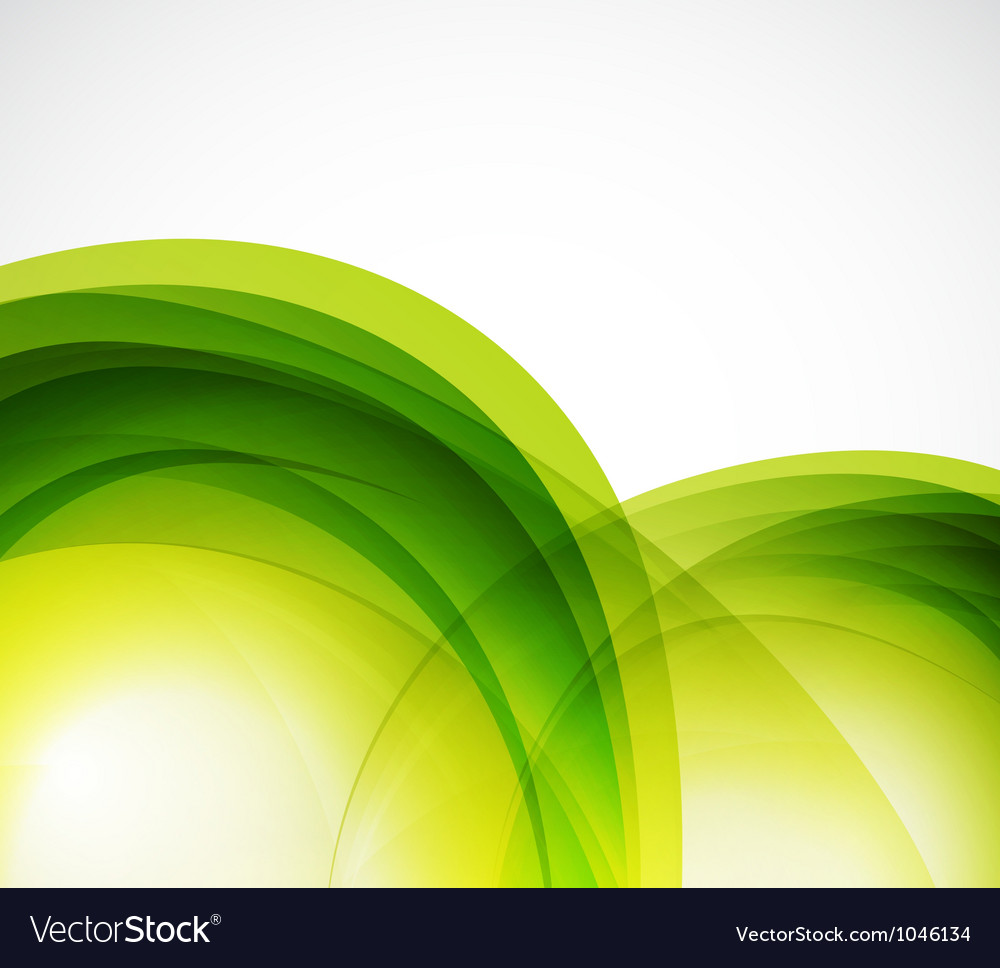 Green eco wave abstract background vector | Price: 1 Credit (USD $1)