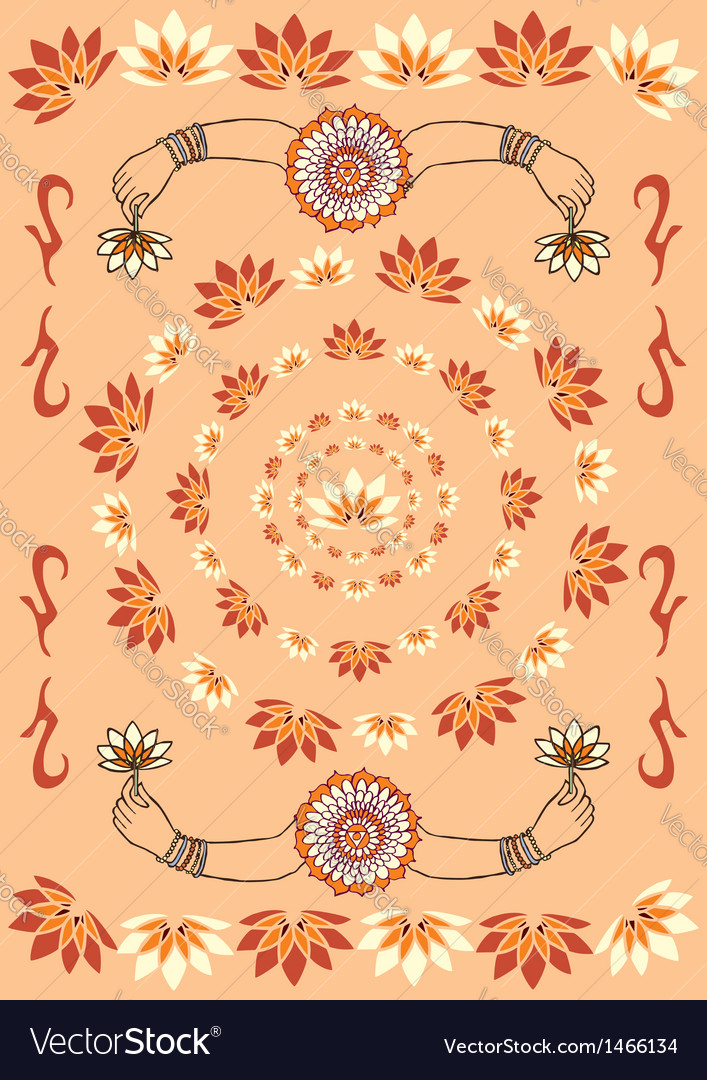 India culture background vector | Price: 1 Credit (USD $1)