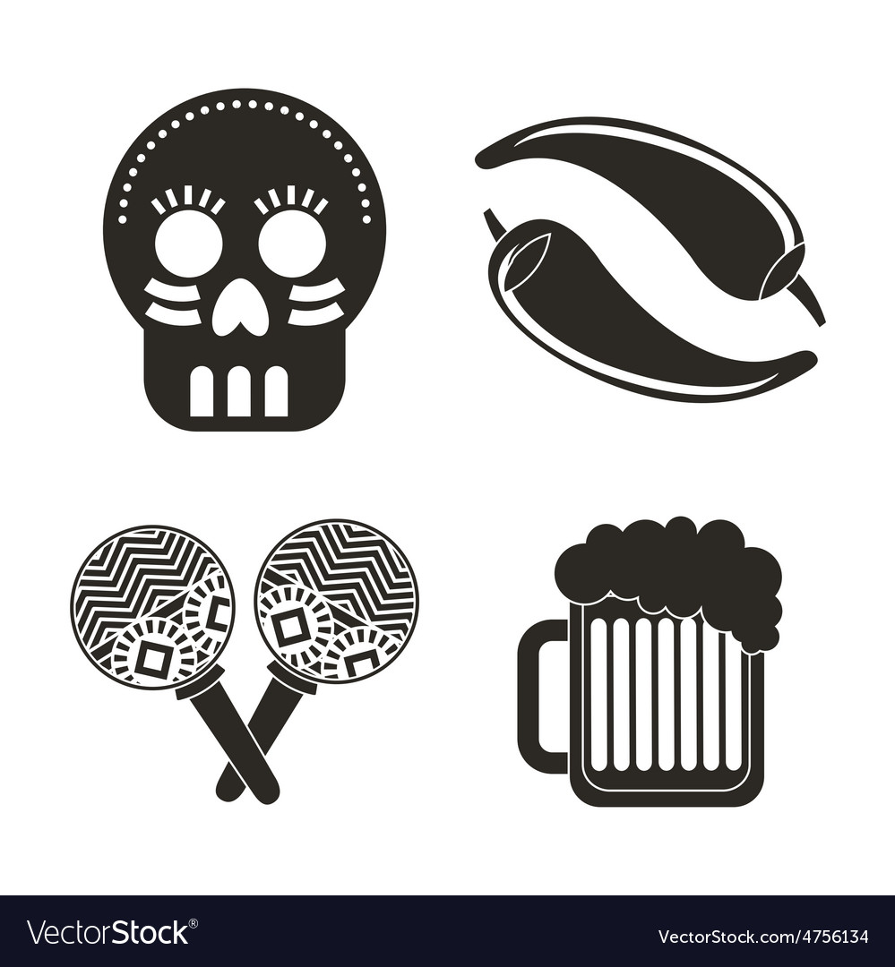 Mexican icons vector | Price: 1 Credit (USD $1)