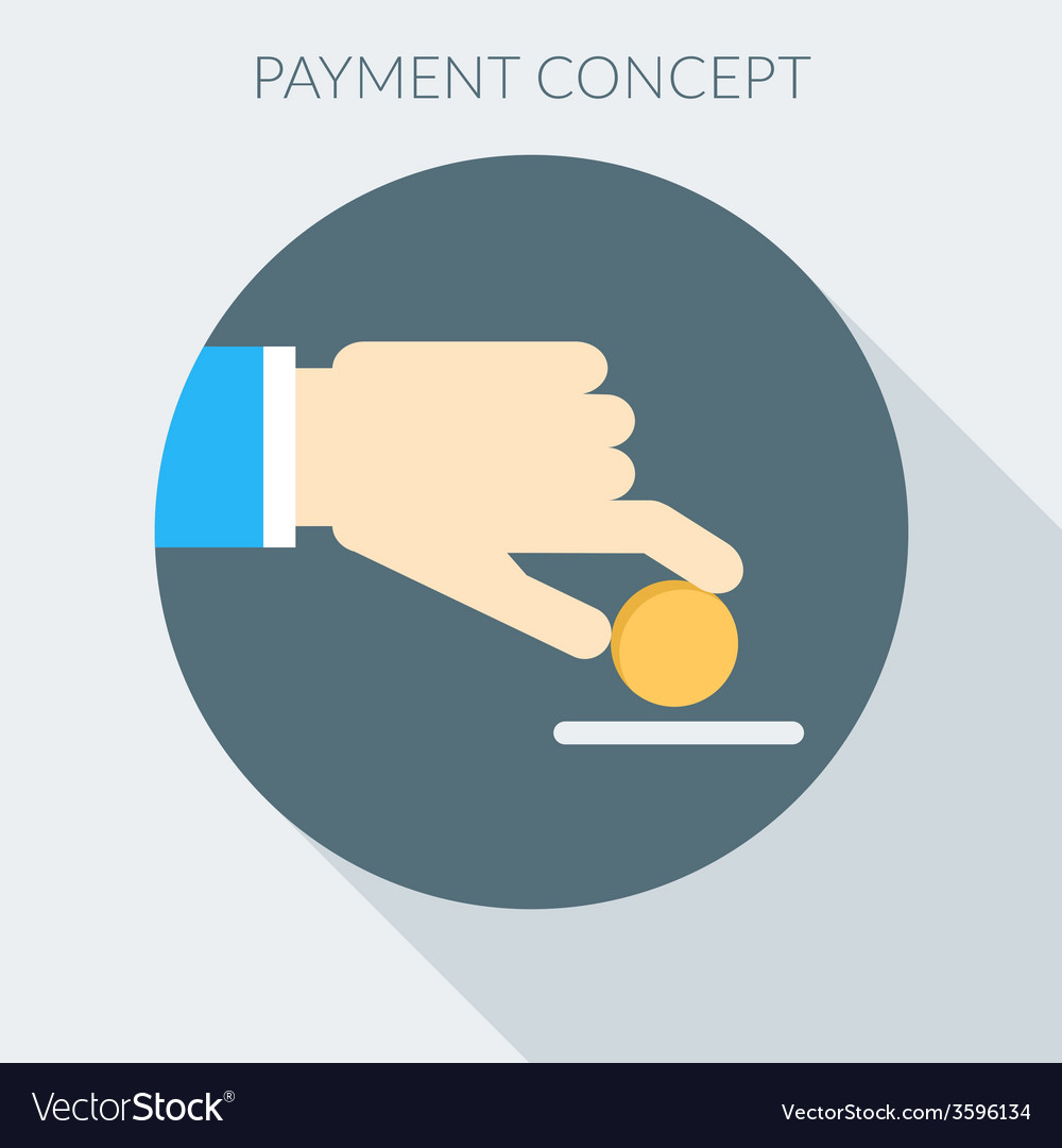 Payment concept hand giving money flat design vector   Price: 1 Credit (USD $1)