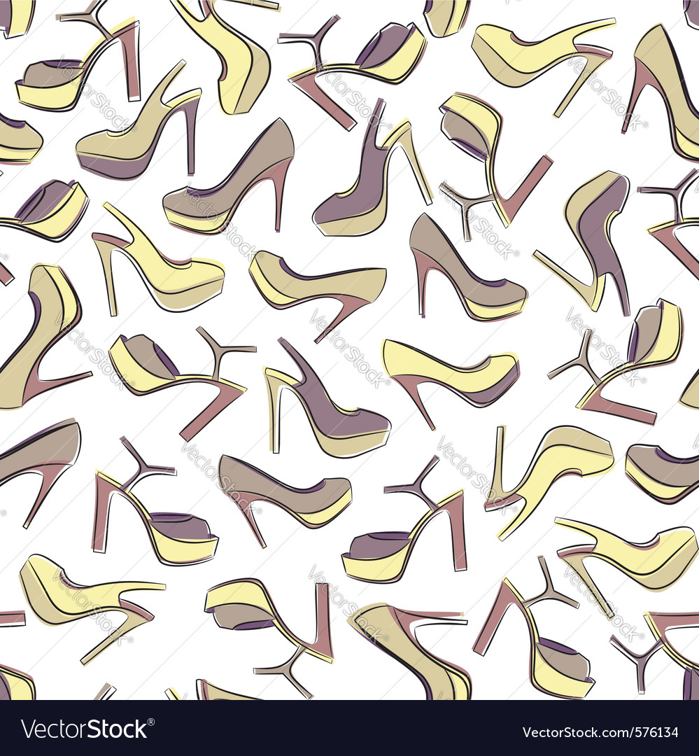 Seamless shoe pattern vector | Price: 1 Credit (USD $1)