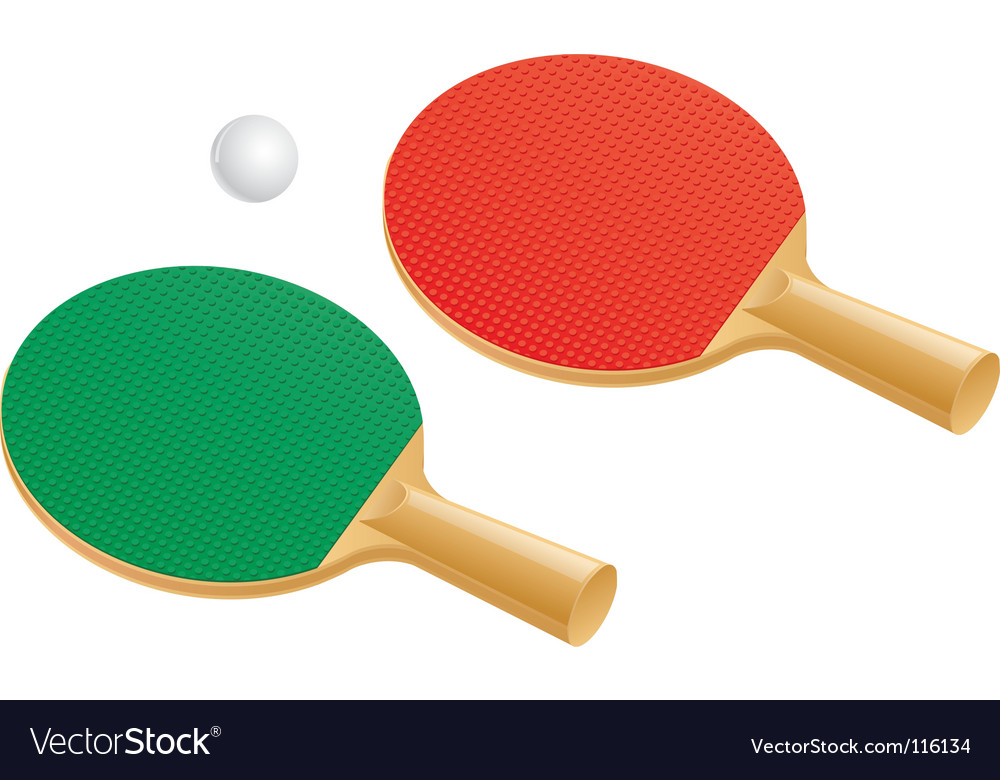 Table tennis paddles and balls vector | Price: 1 Credit (USD $1)