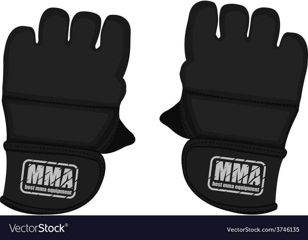 Black martial arts gloves vector | Price: 1 Credit (USD $1)