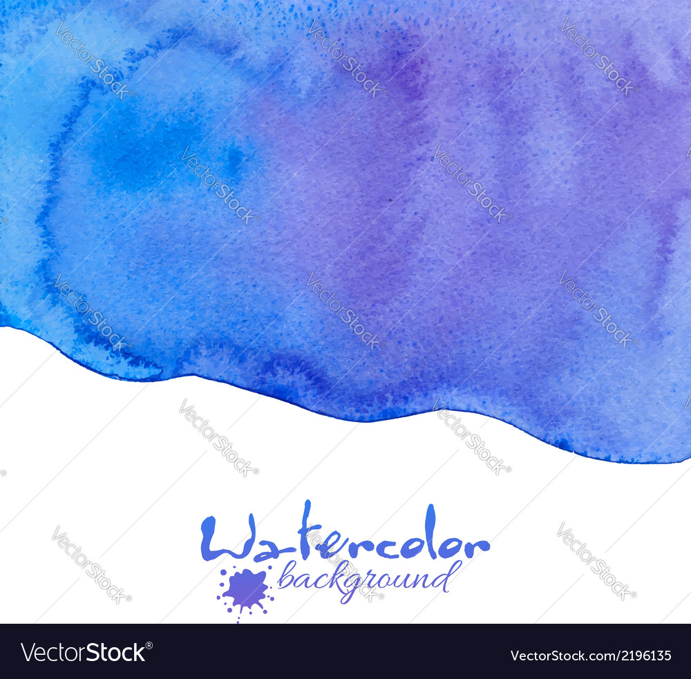 Blue watercolor background vector | Price: 1 Credit (USD $1)