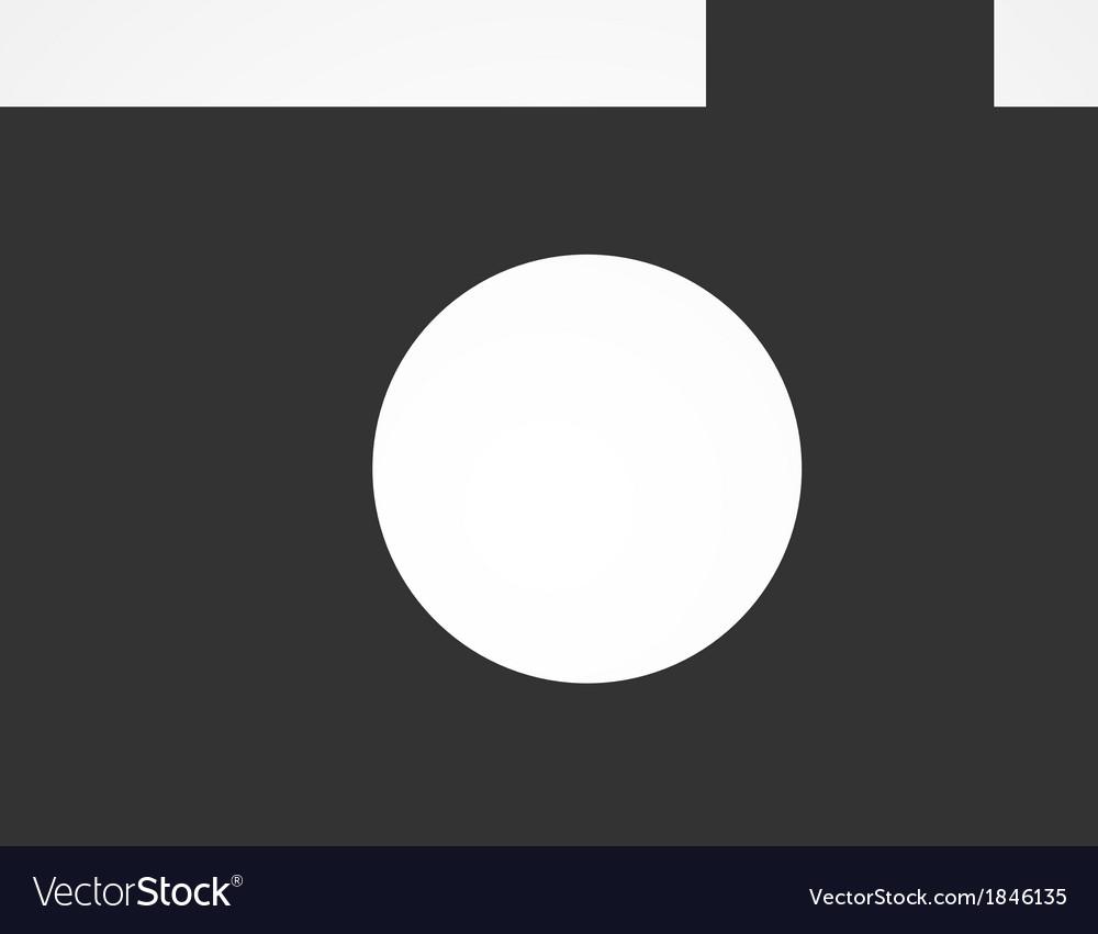 Camera web icon flat design vector | Price: 1 Credit (USD $1)