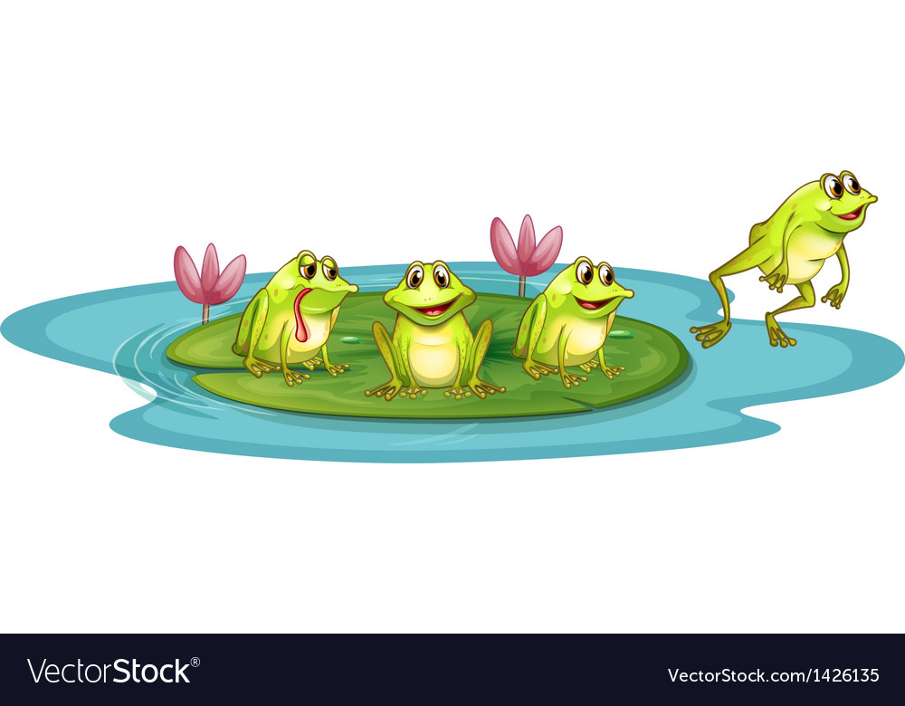 Frogs in the pond vector | Price: 1 Credit (USD $1)