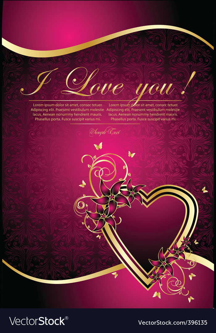 Greeting card with hearts vector | Price: 1 Credit (USD $1)