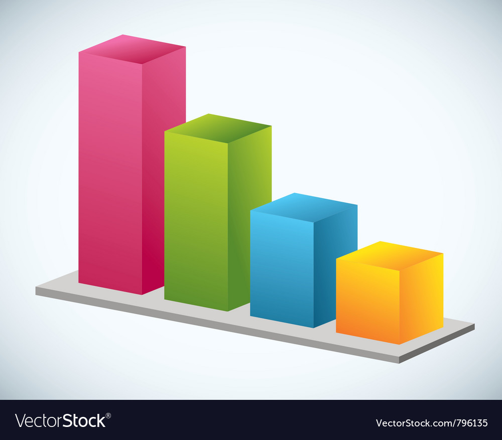 Growth bar graph vector | Price: 1 Credit (USD $1)