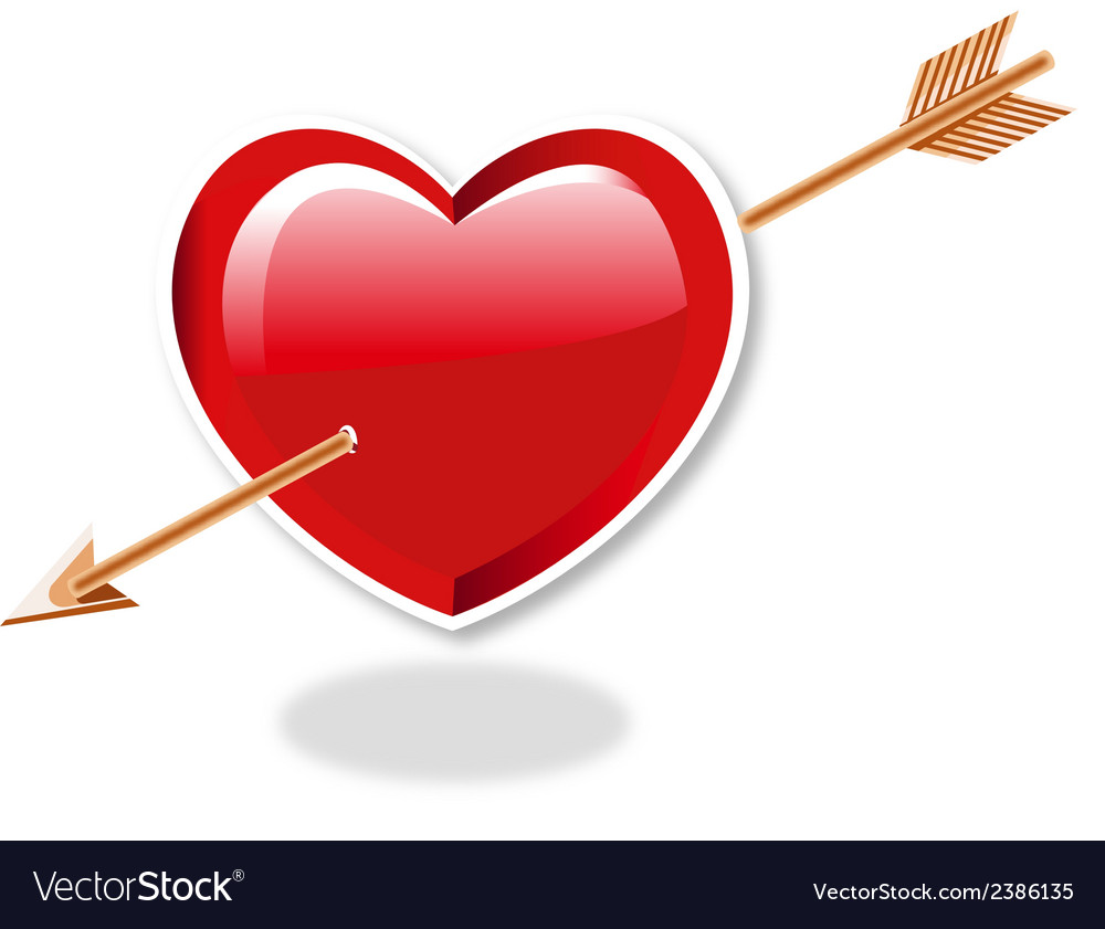 Heart and arrow vector | Price: 1 Credit (USD $1)