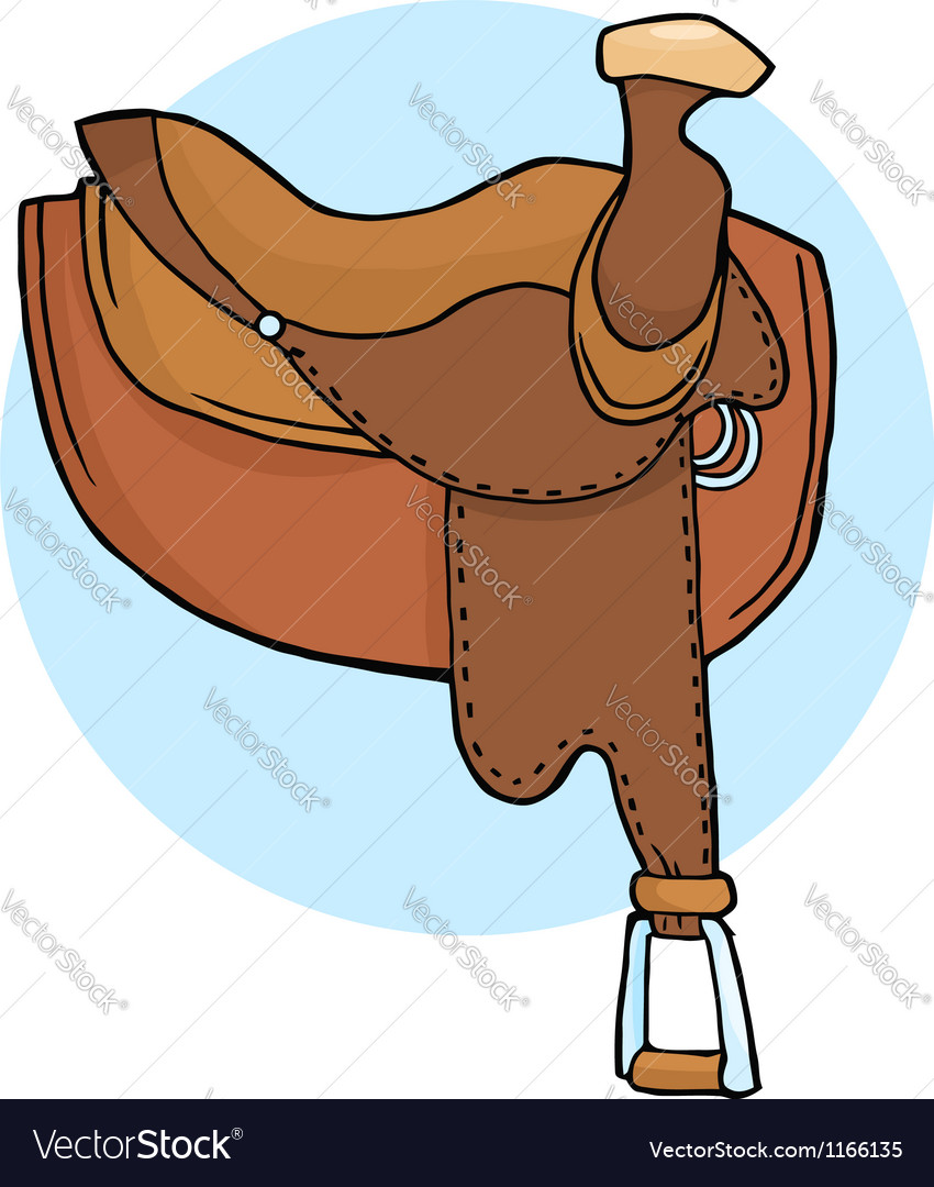 Horse saddle vector | Price: 1 Credit (USD $1)
