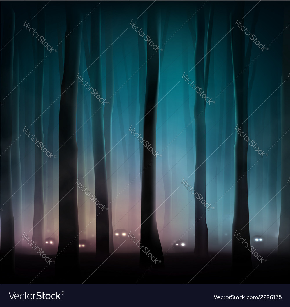 Monsters in forest vector | Price: 1 Credit (USD $1)