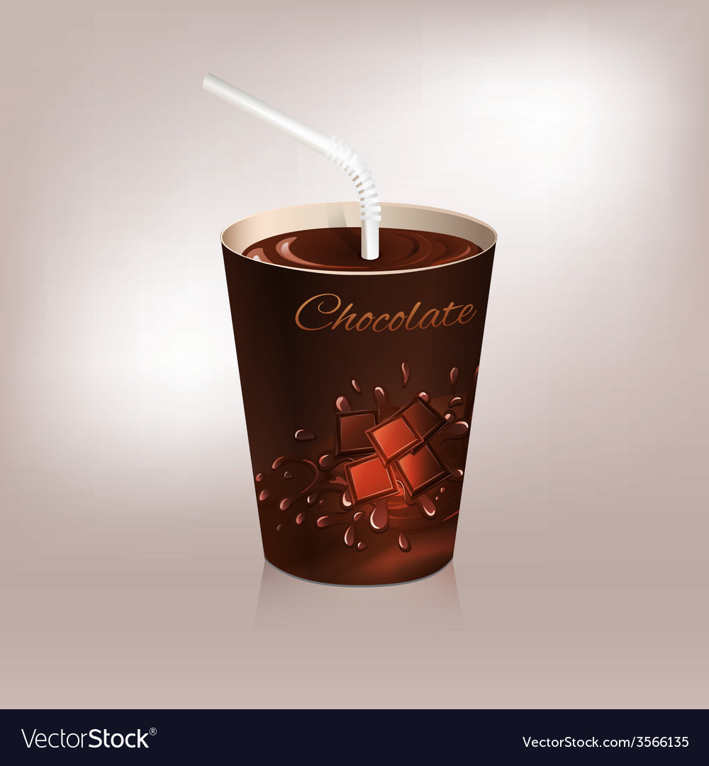 Paper cup packaging vector | Price: 1 Credit (USD $1)