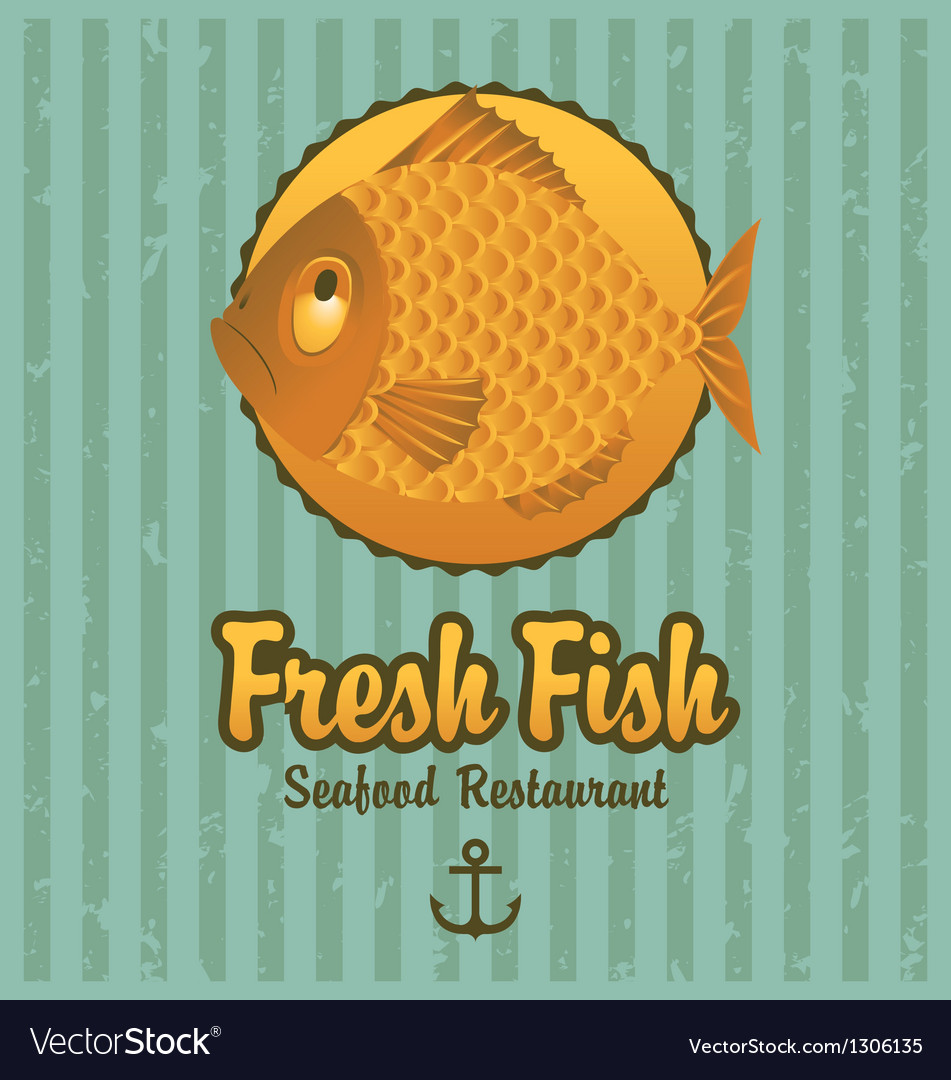 Retro fish vector | Price: 1 Credit (USD $1)