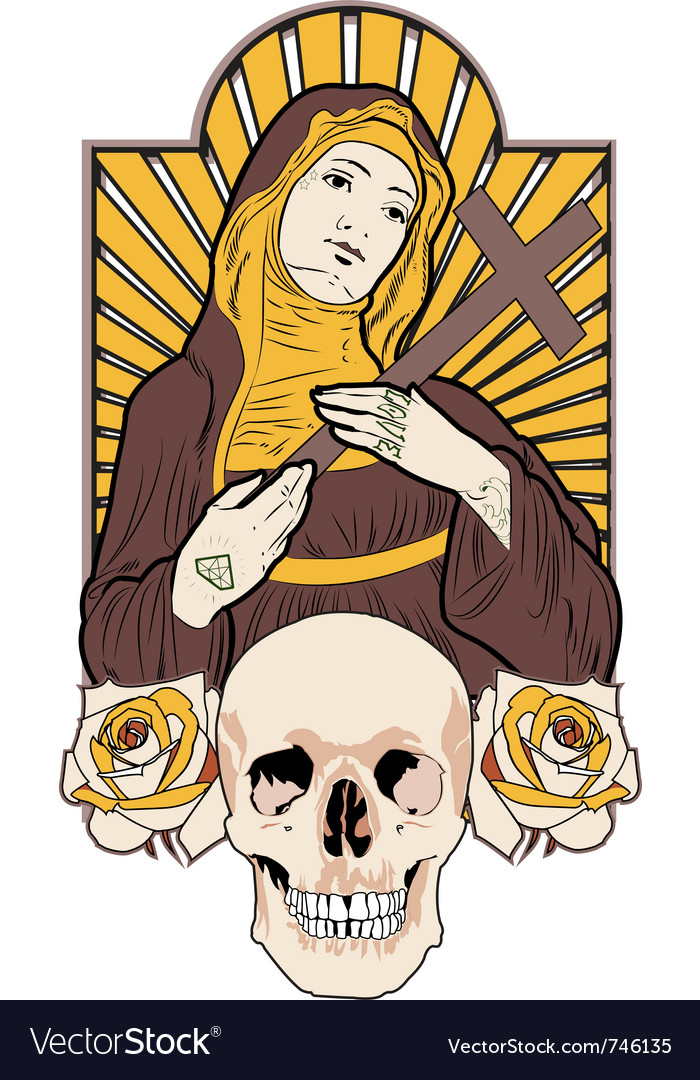 Saint tattoo vector | Price: 3 Credit (USD $3)