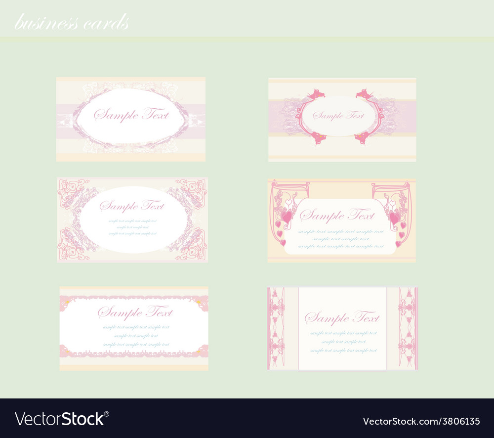 Set of various business cards vector | Price: 1 Credit (USD $1)
