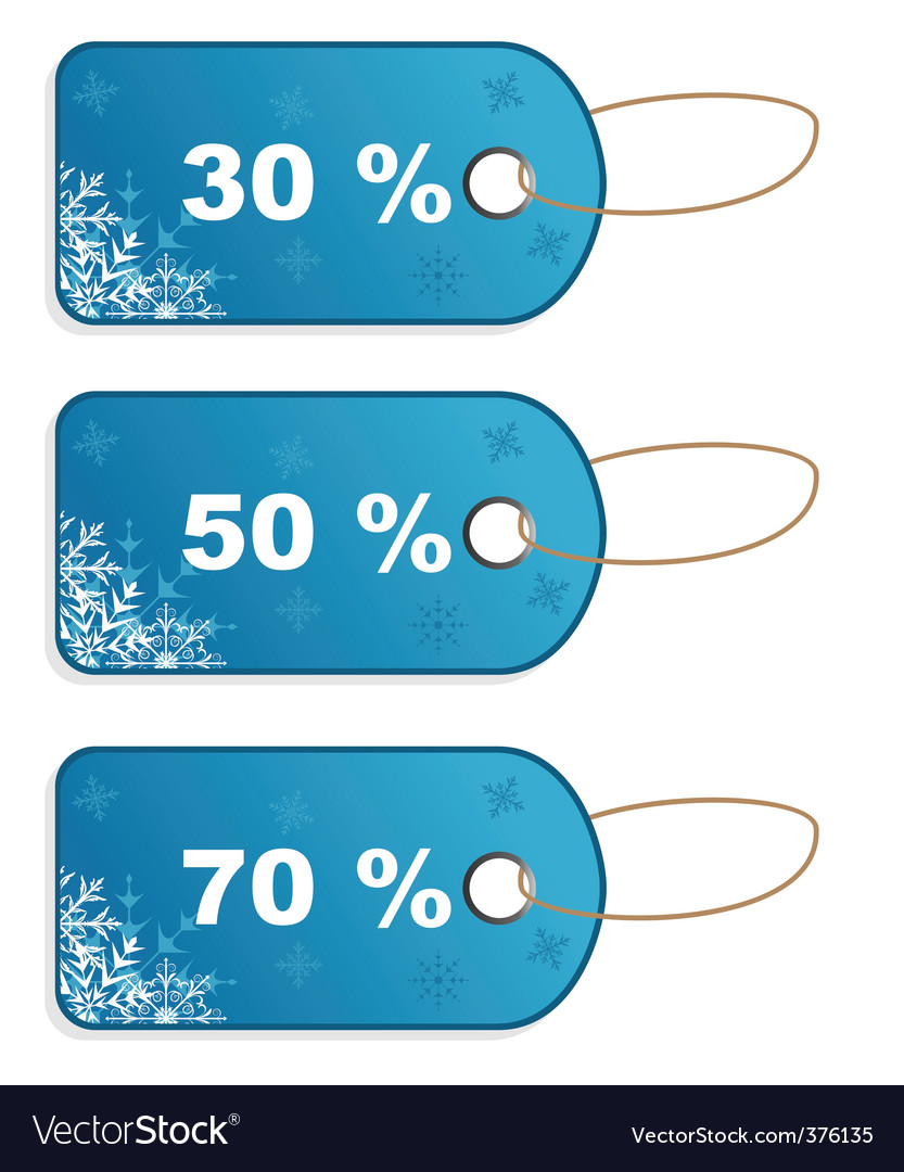 Set winter discount tickets vector | Price: 1 Credit (USD $1)
