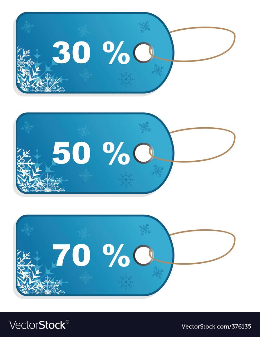 Set winter discount tickets vector | Price: 1 Credit (USD $1)