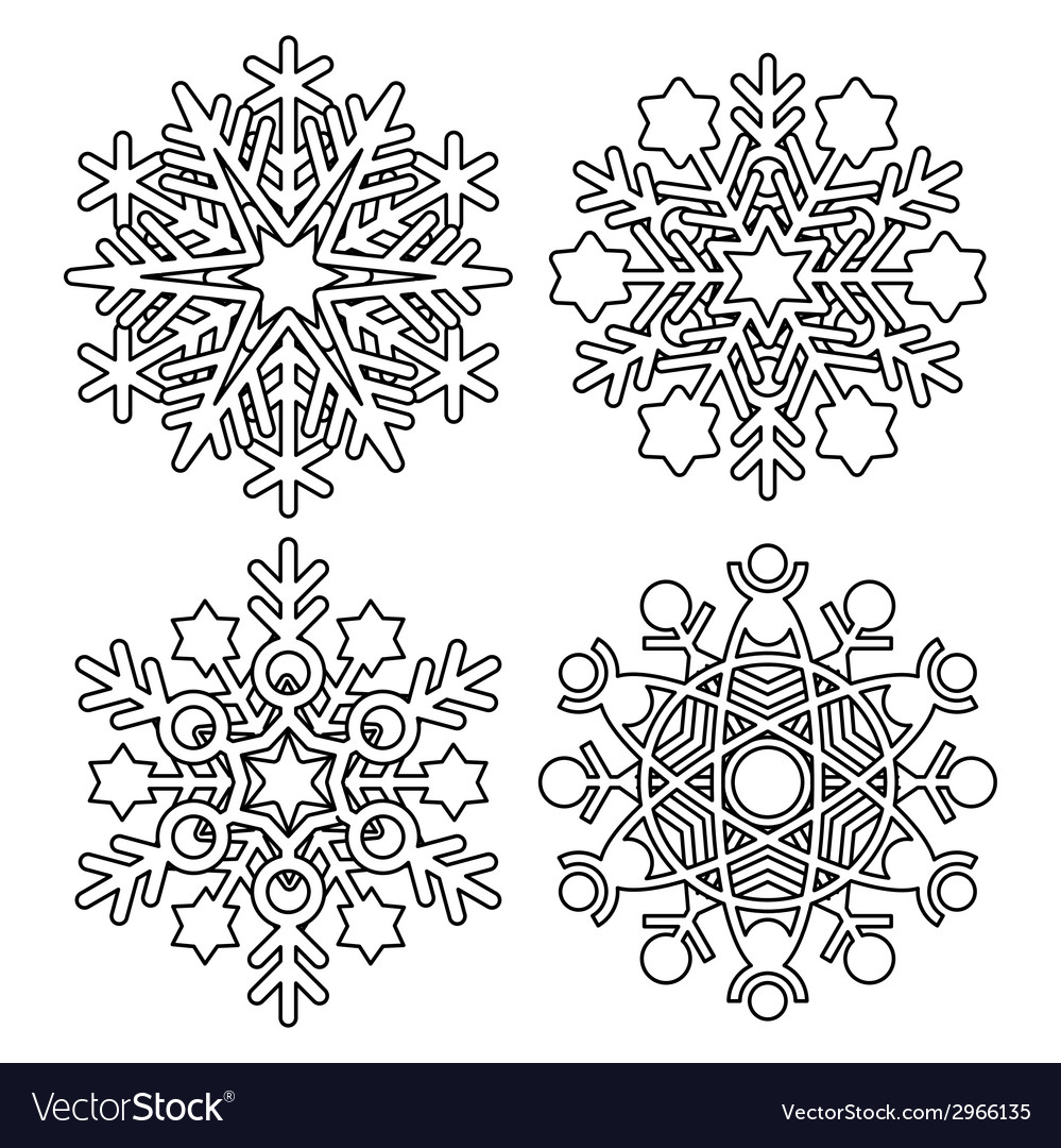Snowflake collection vector   Price: 1 Credit (USD $1)