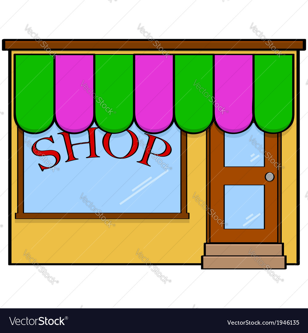 Store front vector | Price: 1 Credit (USD $1)