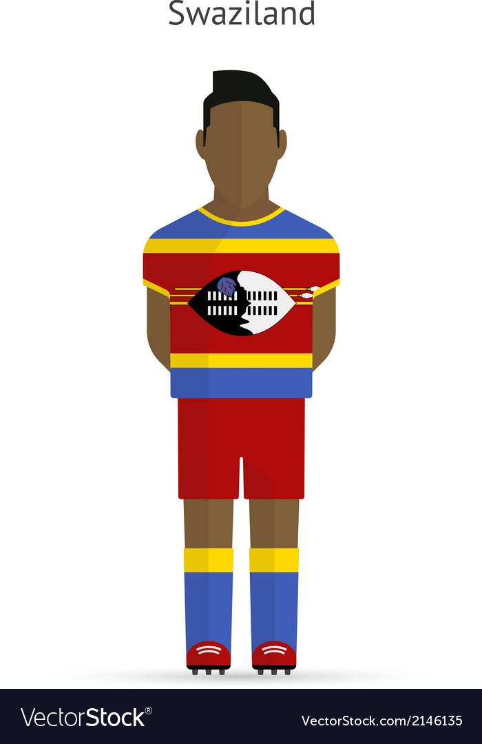 Swaziland football player soccer uniform vector | Price: 1 Credit (USD $1)