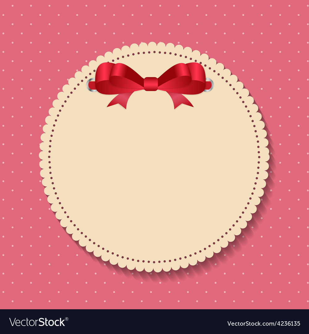Vintage frame with bow background vector | Price: 1 Credit (USD $1)