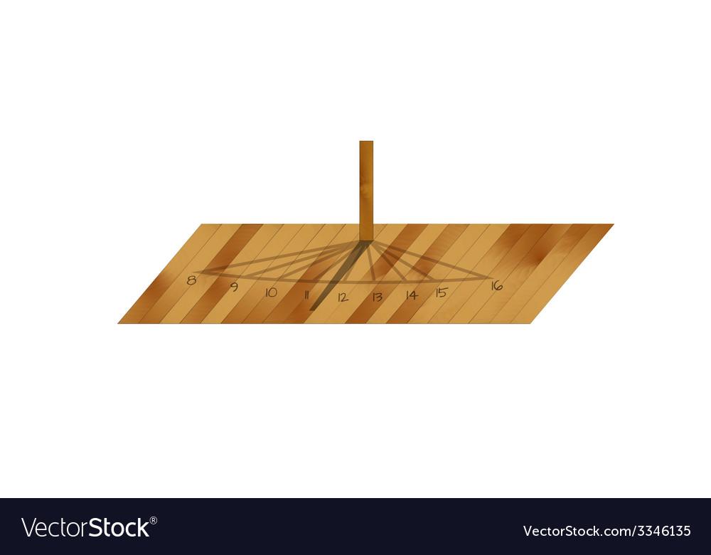 Wooden sundial vector   Price: 1 Credit (USD $1)