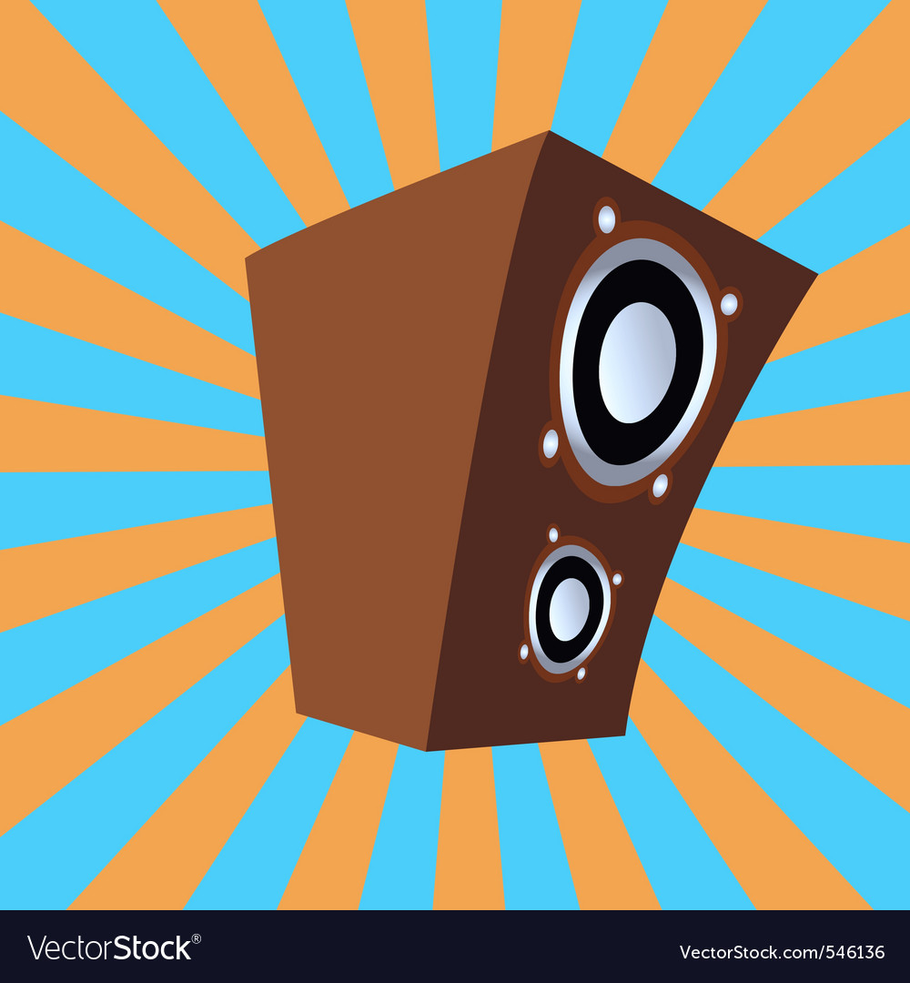 Cartoon style speaker vector | Price: 1 Credit (USD $1)