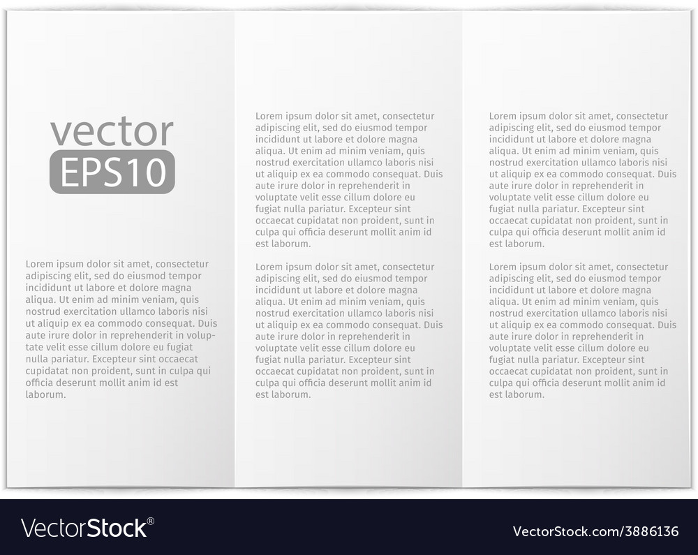 Close up of a leaflet blank white paper on white vector | Price: 1 Credit (USD $1)