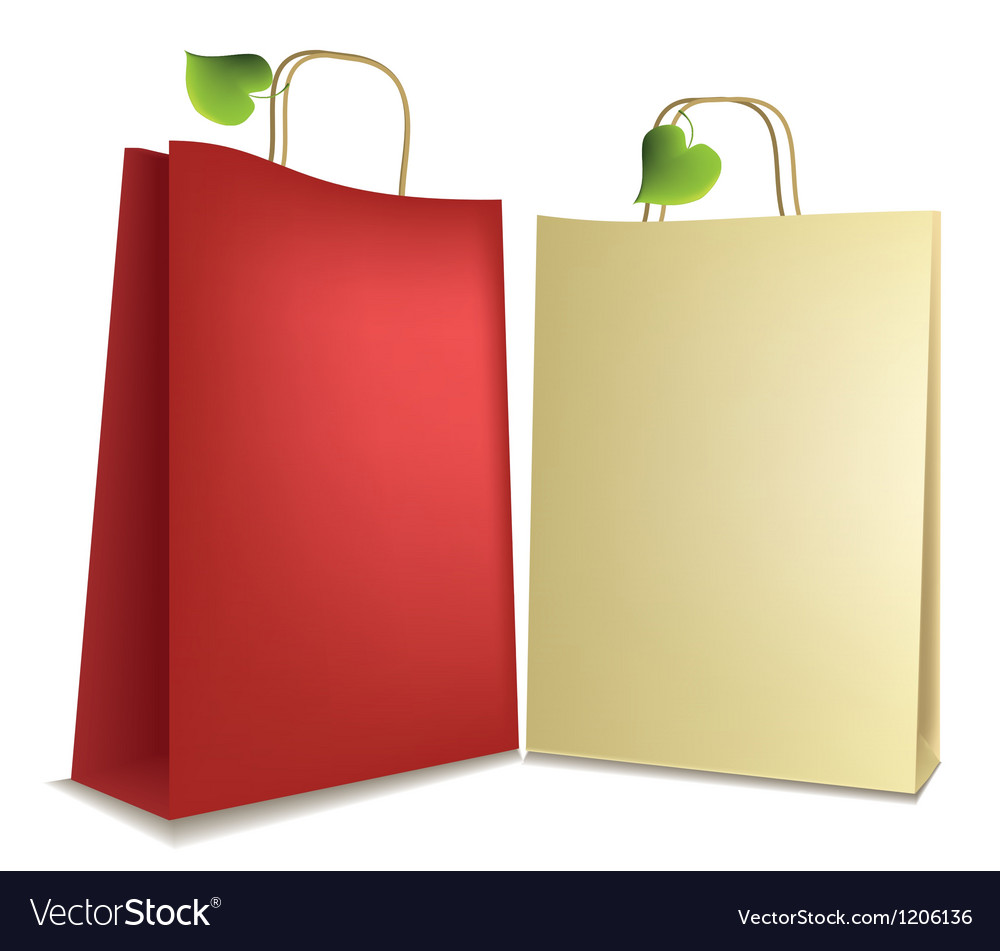 Eco shopping bags vector | Price: 1 Credit (USD $1)