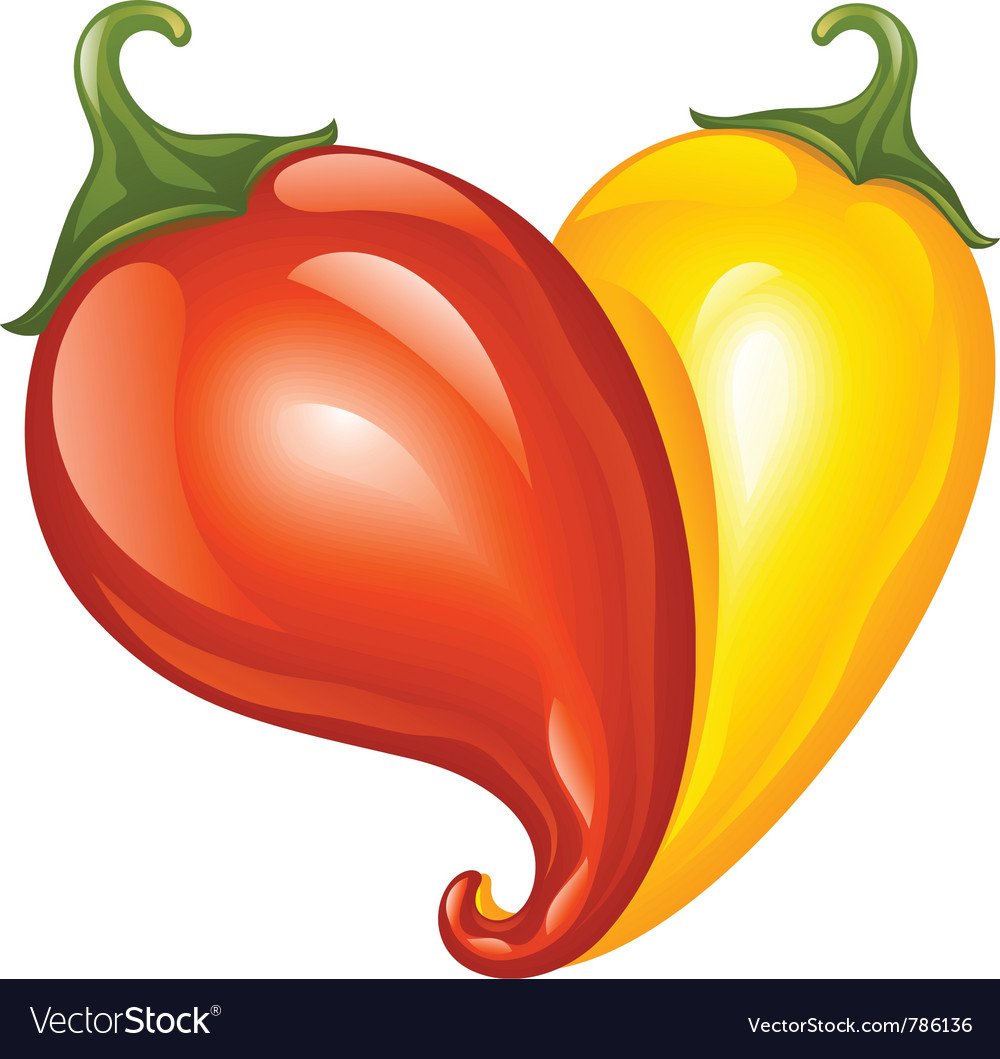 Hot chilli pepper red and yellow vector | Price: 1 Credit (USD $1)