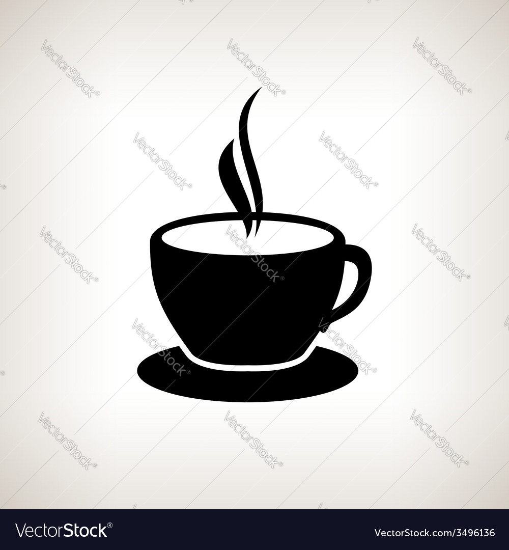 Silhouette cup of tea  cup of coffee vector | Price: 1 Credit (USD $1)