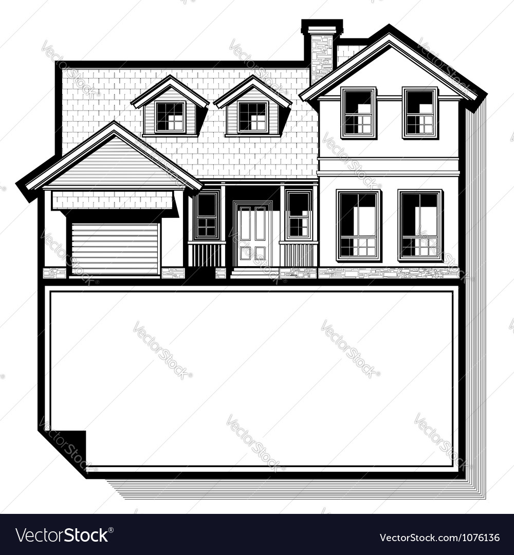 Single family house vector | Price: 1 Credit (USD $1)
