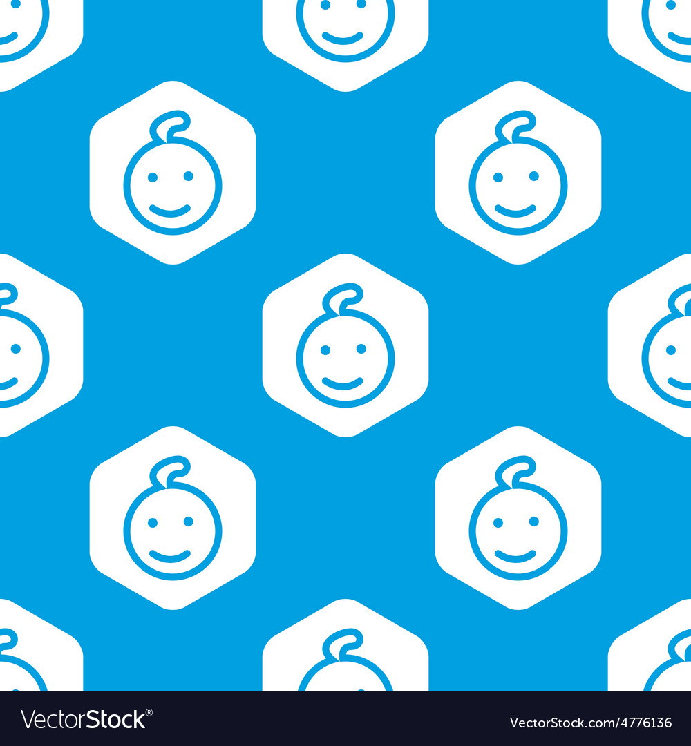 Smiling kid hexagon pattern vector | Price: 1 Credit (USD $1)
