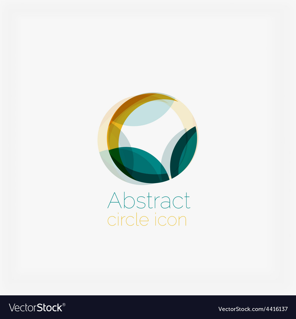 Abstract symmetric geometric shapes business icon vector | Price: 1 Credit (USD $1)