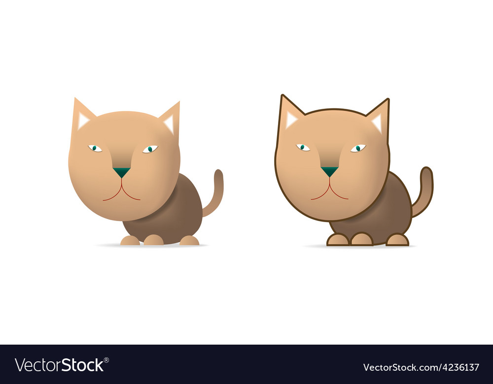 Brown cat vector | Price: 3 Credit (USD $3)