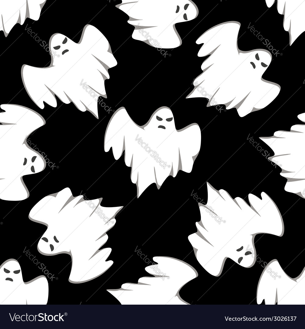 Halloween seamless background pattern vector | Price: 1 Credit (USD $1)