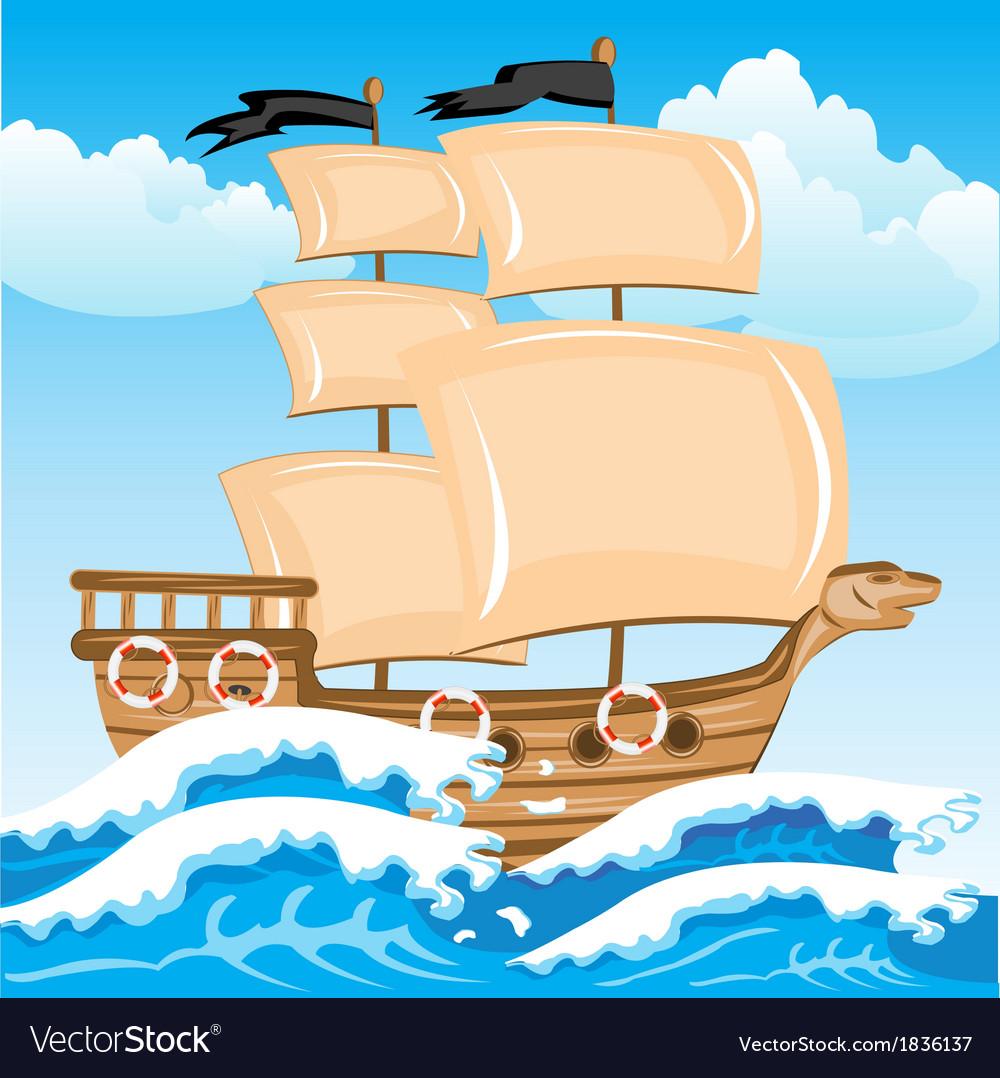 Nave seaborne vector | Price: 1 Credit (USD $1)