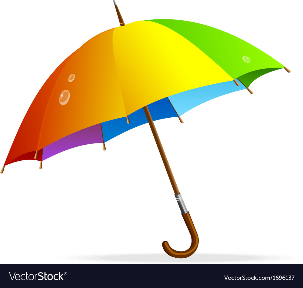 Rainbow umbrella isolated vector | Price: 1 Credit (USD $1)