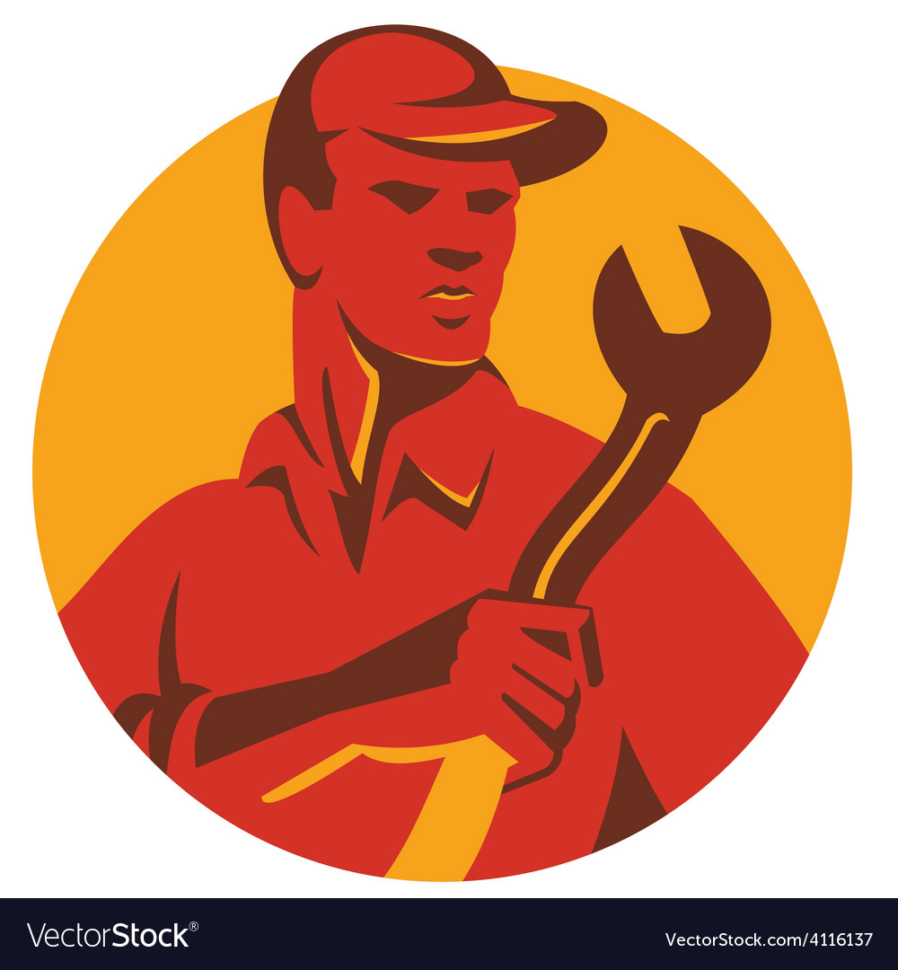 Worker hat spanner front vector   Price: 1 Credit (USD $1)