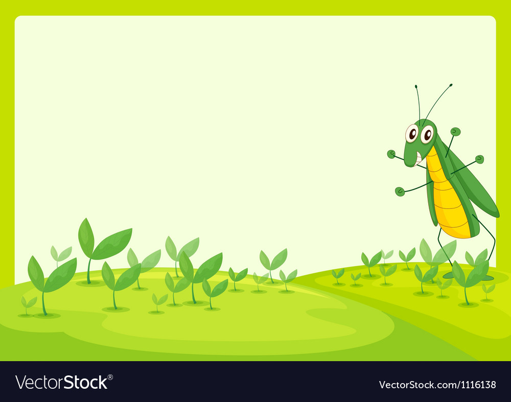 A grasshopper vector | Price: 1 Credit (USD $1)