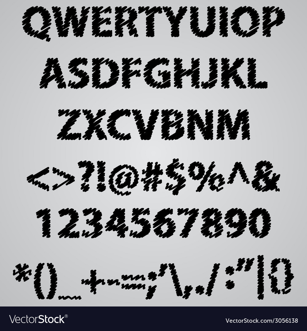 Alphabet scribble vector | Price: 1 Credit (USD $1)
