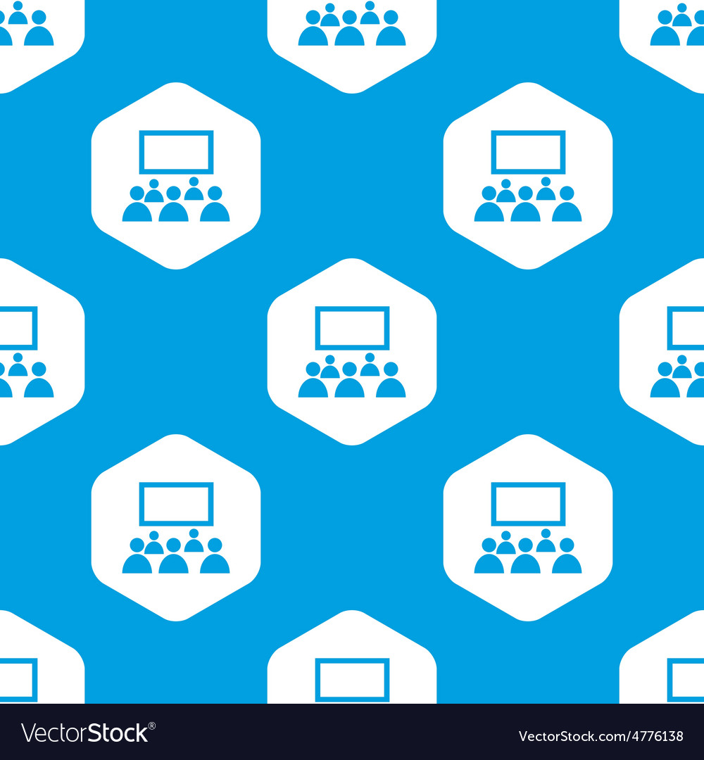 Audience hexagon pattern vector | Price: 1 Credit (USD $1)