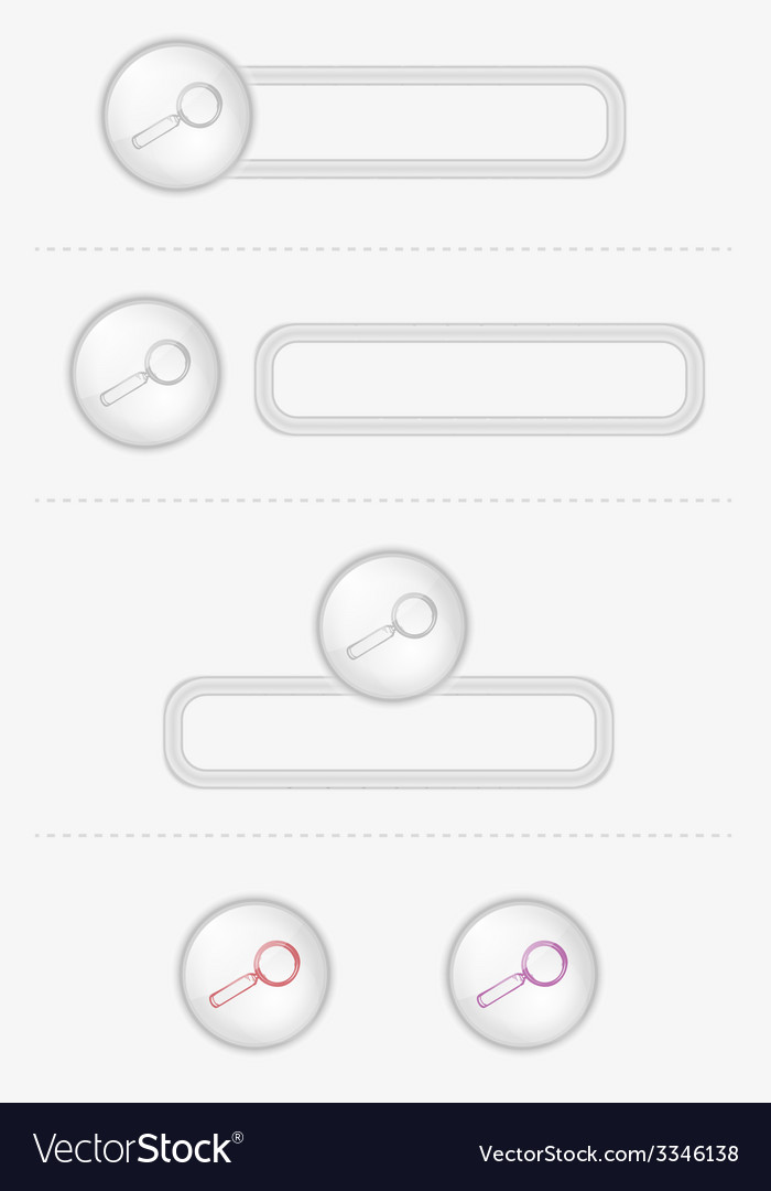 Buttons with magnifying glass vector | Price: 1 Credit (USD $1)